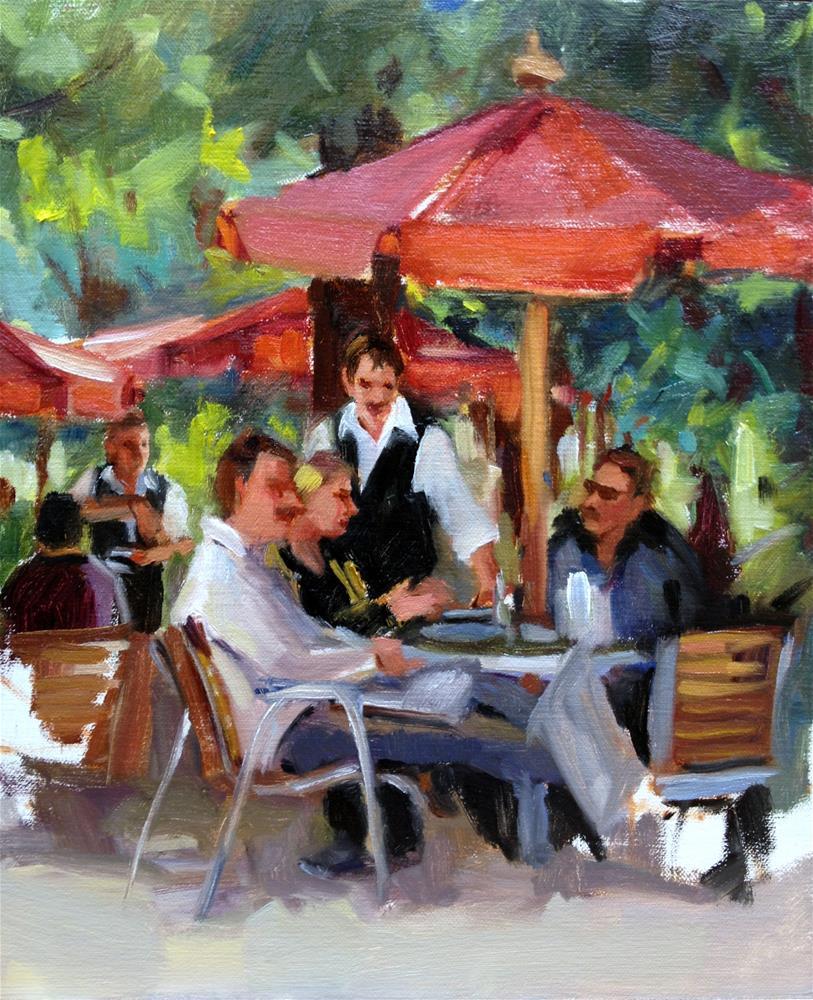 """An afternoon in Paris"" original fine art by Laurie Johnson Lepkowska"