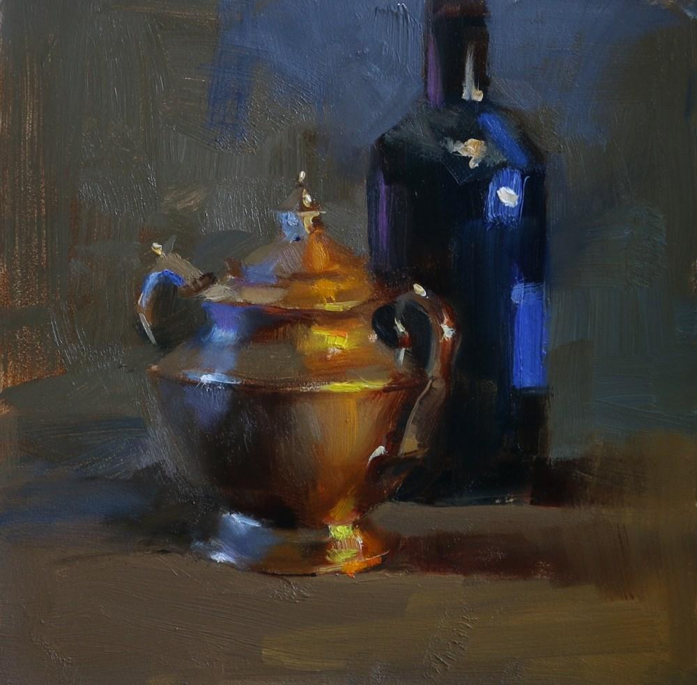 """Shining in Warm and Cool"" original fine art by Qiang Huang"