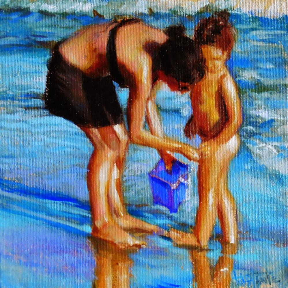 """Removing the sand"" original fine art by Víctor Tristante"