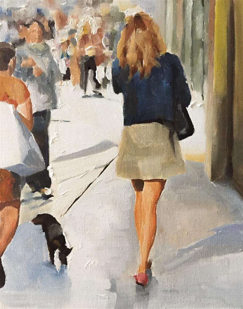 """Street Scene"" original fine art by James Coates"