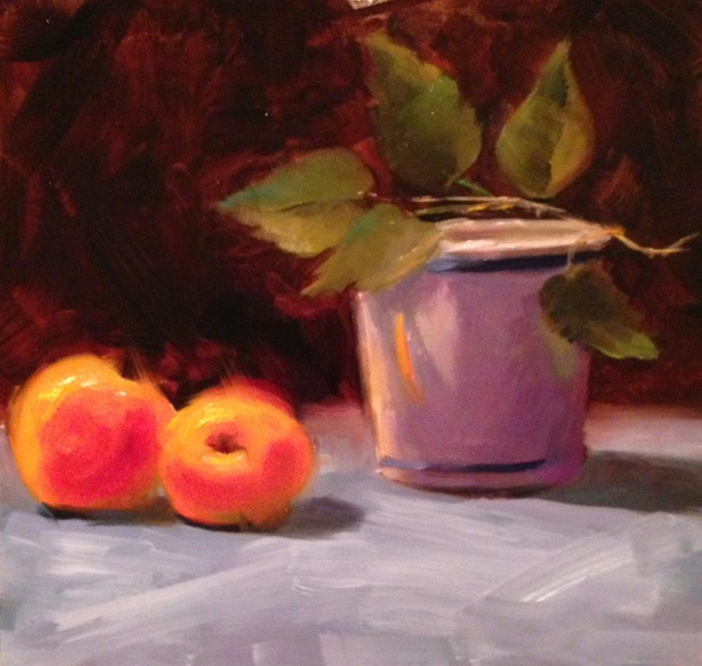 """""""Peaches"""" original fine art by Dorothy Woolbright"""
