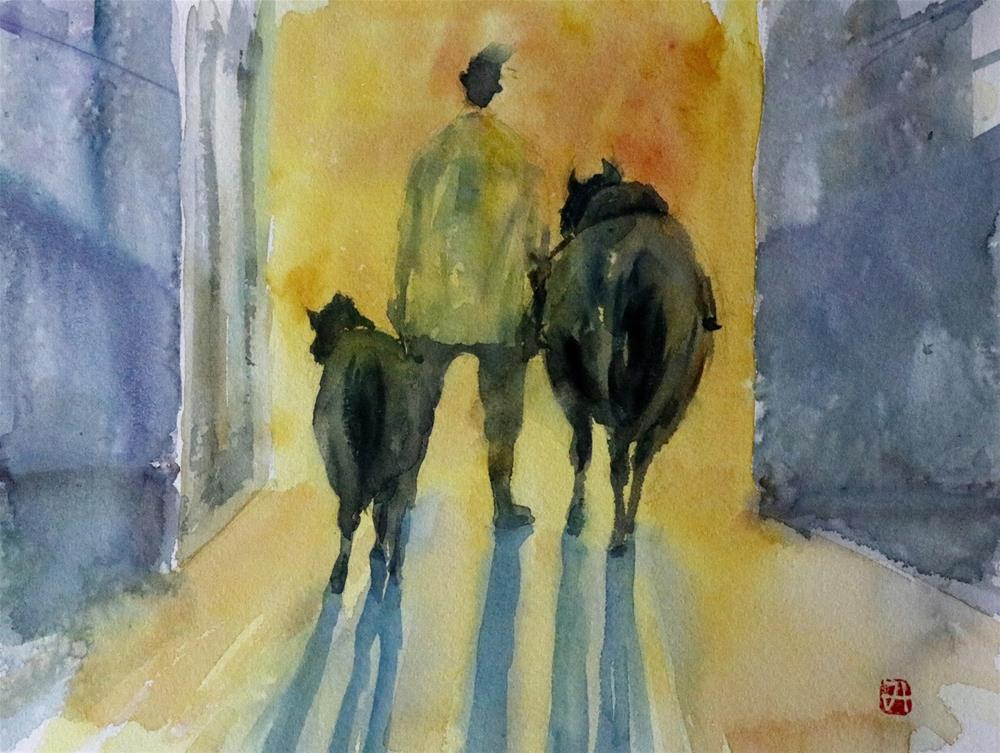 """The  Equestrian Club in Al Ain."" original fine art by Midori Yoshino"