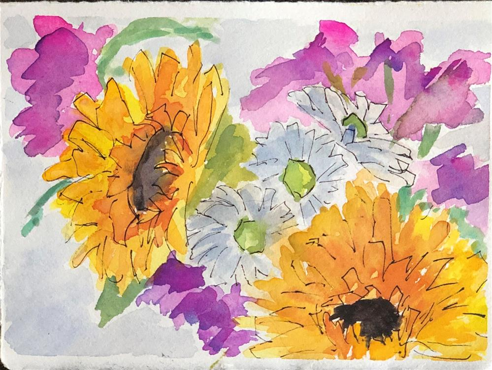 """French Market Bouquet"" original fine art by Renee Robison"