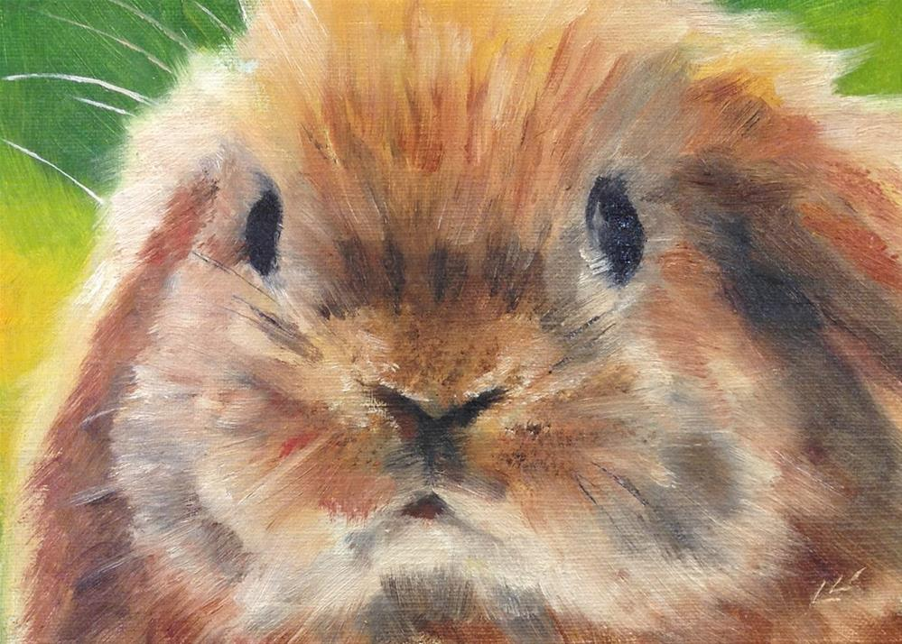 """BunBun"" original fine art by Linda Lowery"