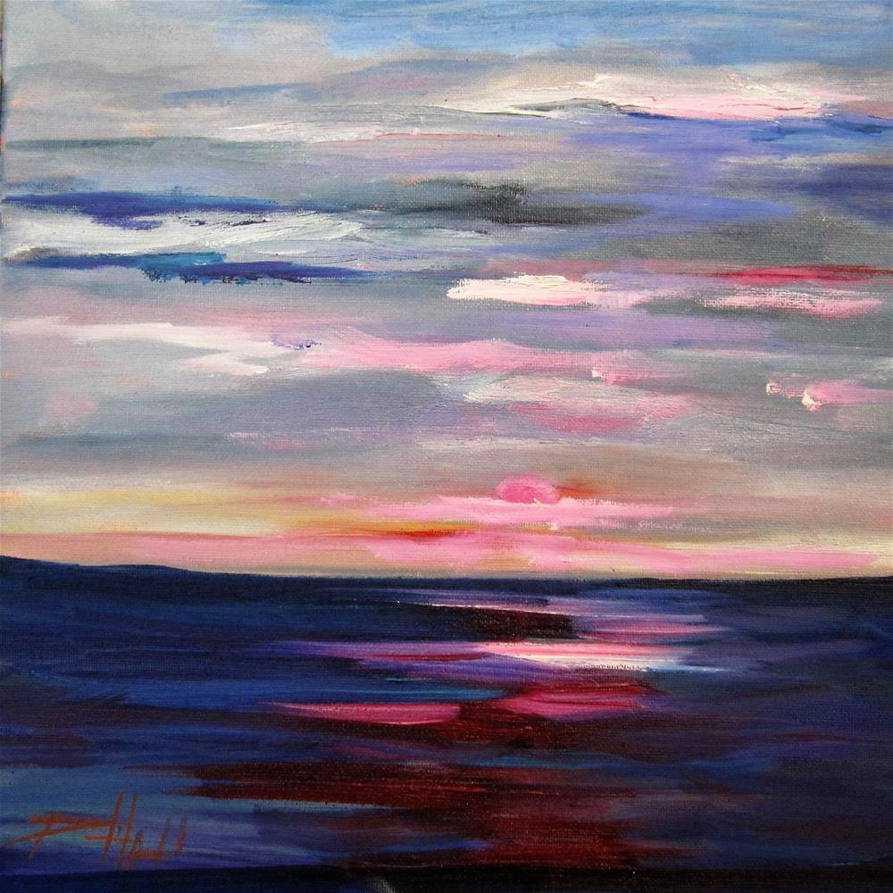 """Sunset No. 3"" original fine art by Delilah Smith"