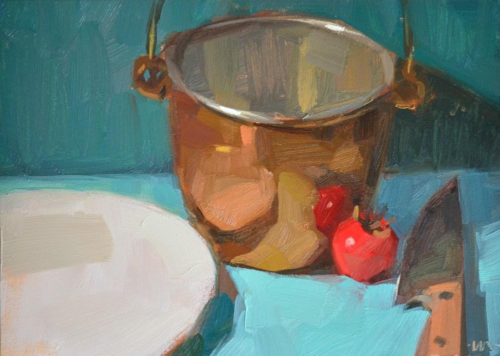 """In Cahoots"" original fine art by Carol Marine"