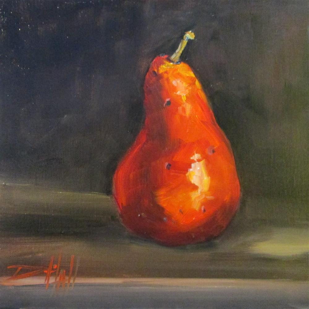 """Red Pear No. 3"" original fine art by Delilah Smith"