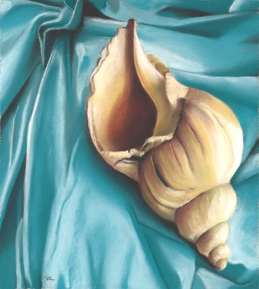 """Resting Shell"" original fine art by Ria Hills"
