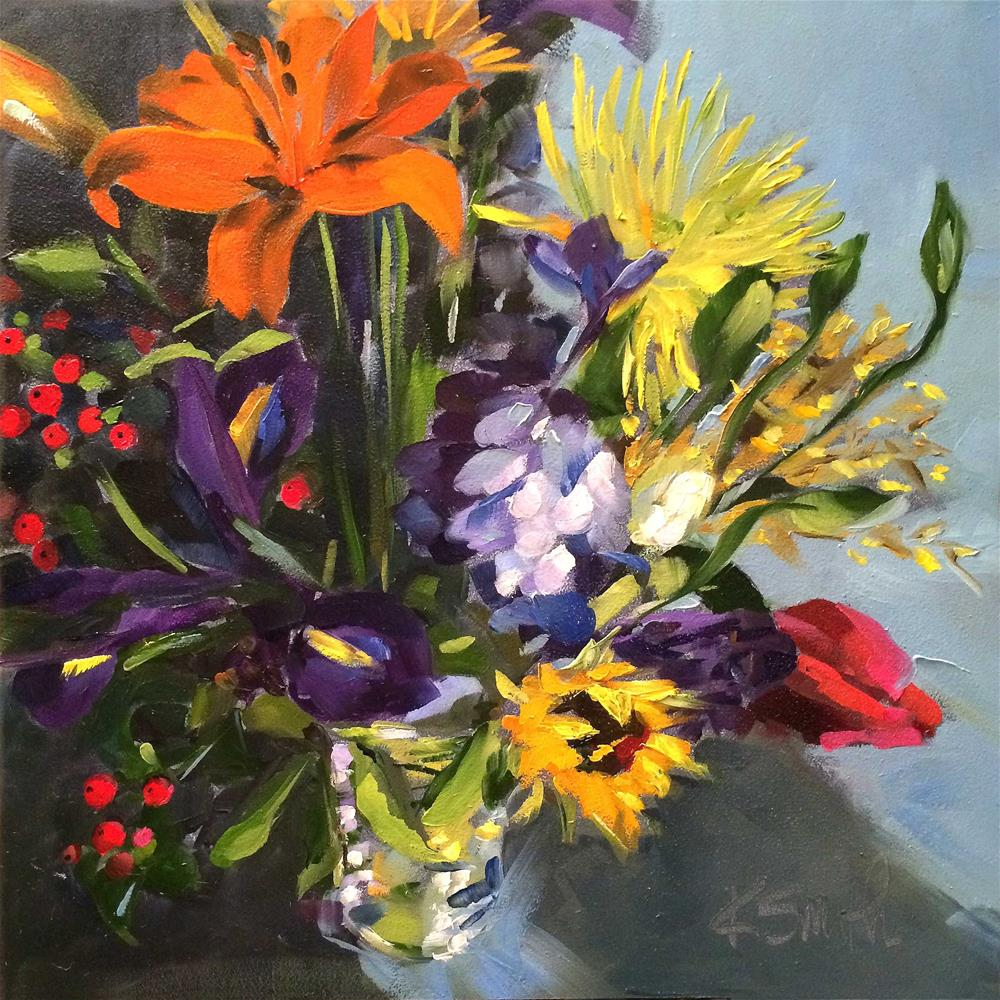 """exuberance"" original fine art by Kim Smith"