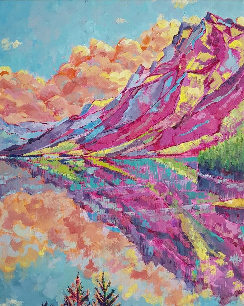 """ Mirror Lake"" original fine art by Bhavna Misra"