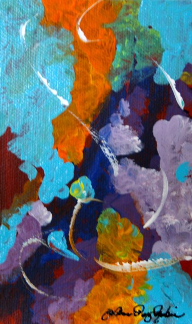 """Tiny Abstract"" original fine art by JoAnne Perez Robinson"