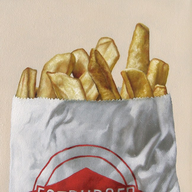"""Fat Fries"" original fine art by Jelaine Faunce"