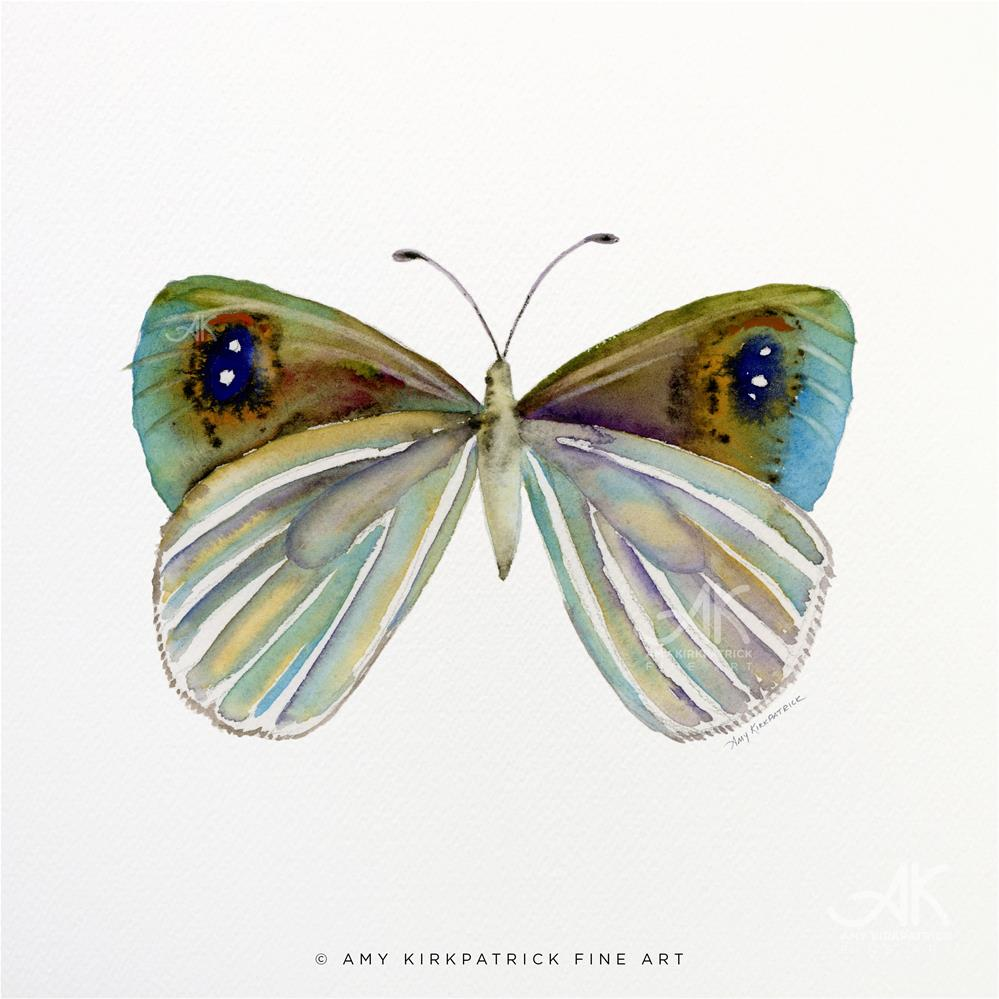 """#23 Blue Argyrophenga Butterfly #0332"" original fine art by Amy Kirkpatrick"