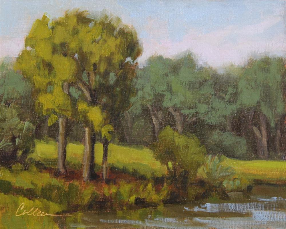 """""""On the River Course"""" original fine art by Colleen Parker"""