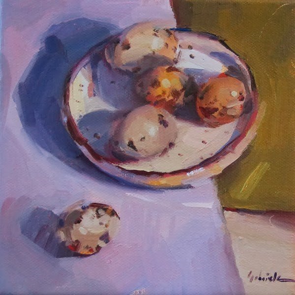 """""""Speckled Eggs and Spring"""" original fine art by Sarah Sedwick"""