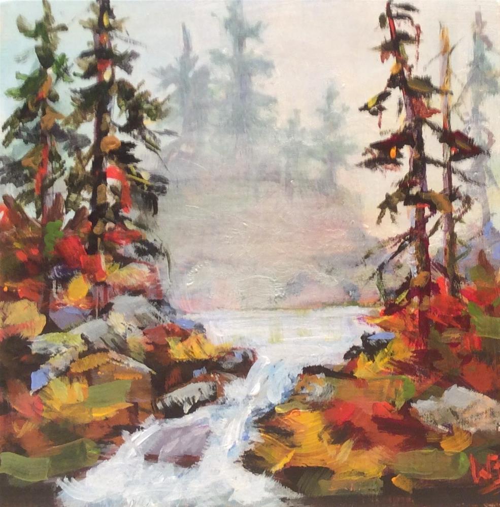 """Misty Morning"" original fine art by wendy black"