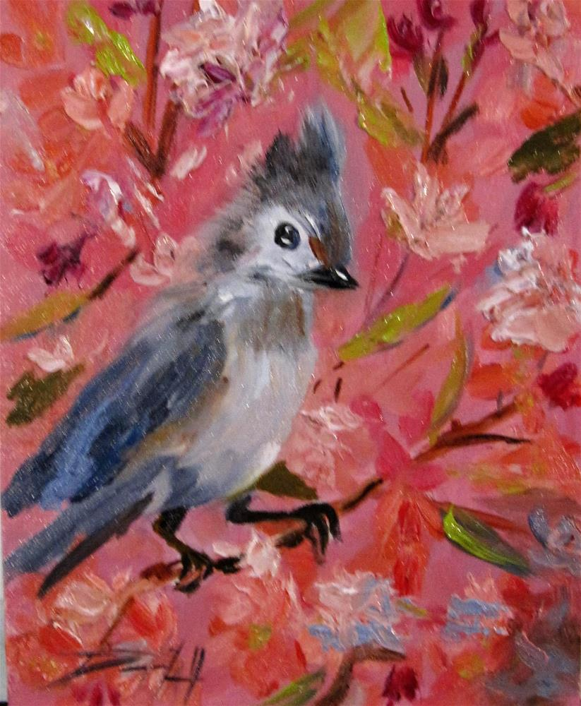 """Spring Bird"" original fine art by Delilah Smith"
