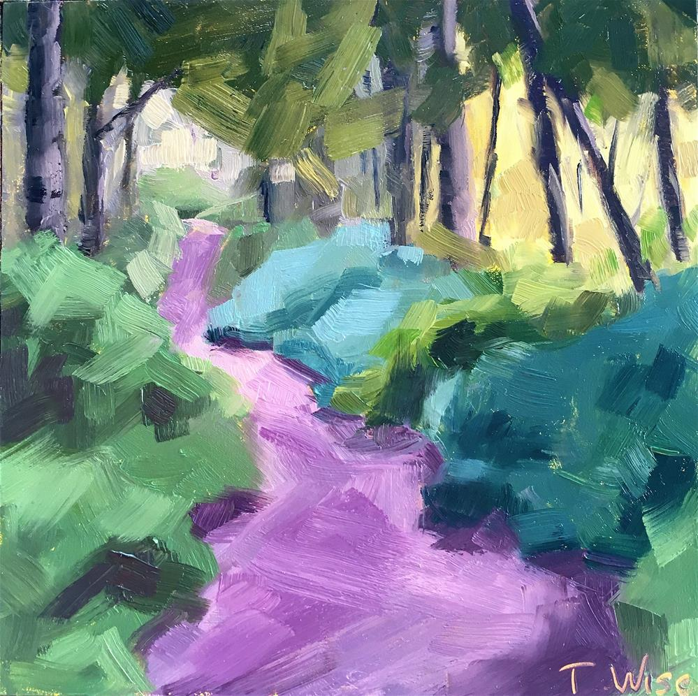 """""""Fort Gate Trail"""" original fine art by Tracy Wise"""