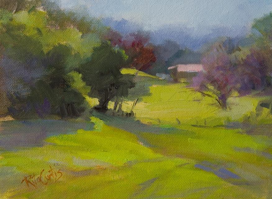 """Maryland Farm Country"" original fine art by Rita Curtis"