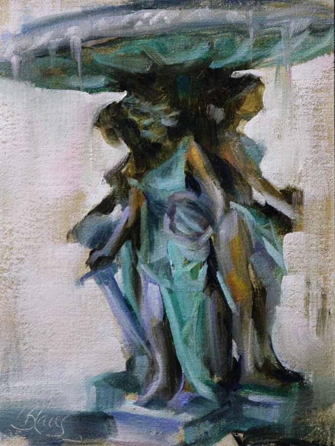 """Ladies and La Justice"" original fine art by Pamela Blaies"