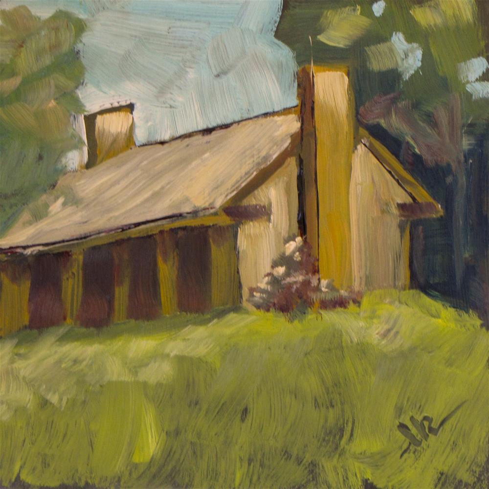 """Hoyt Park Shelter"" original fine art by Louise Kubista"