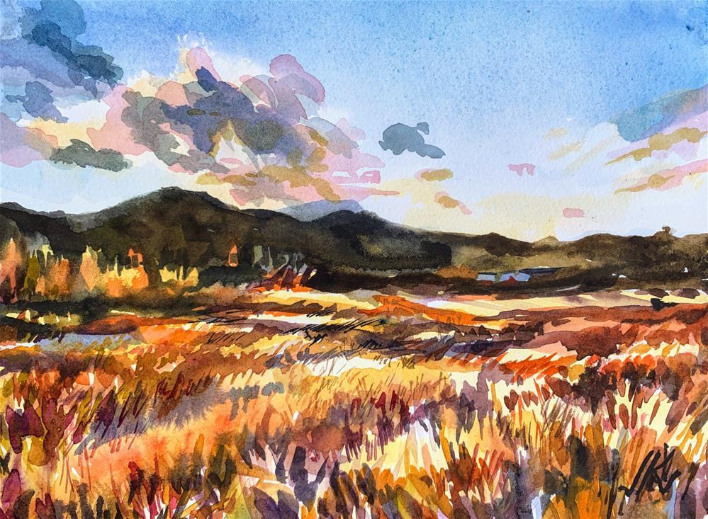 """""""Hermit Lane, Westcliffe CO"""" original fine art by Jean Krueger"""