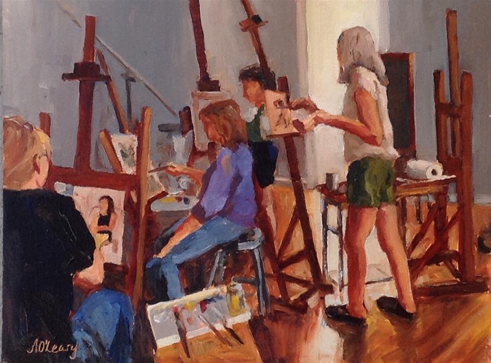 """""""Figure Lesson"""" original fine art by Alice O'Leary"""