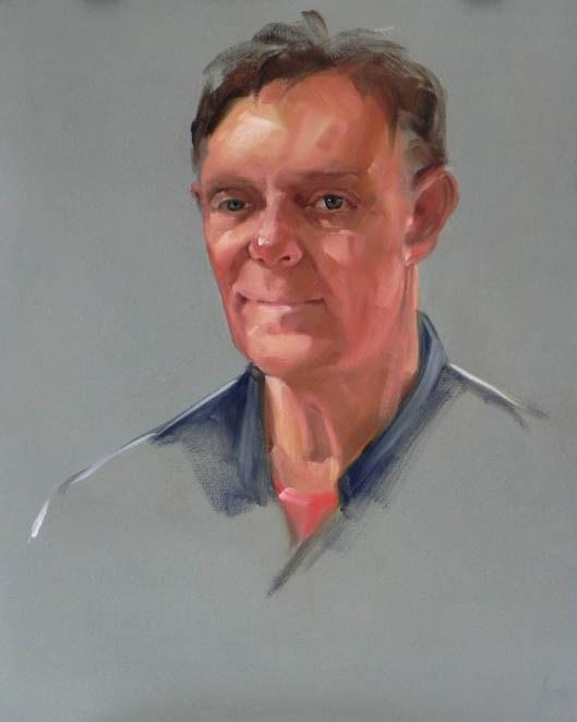 """Bill"" original fine art by Cheryl Wilson"
