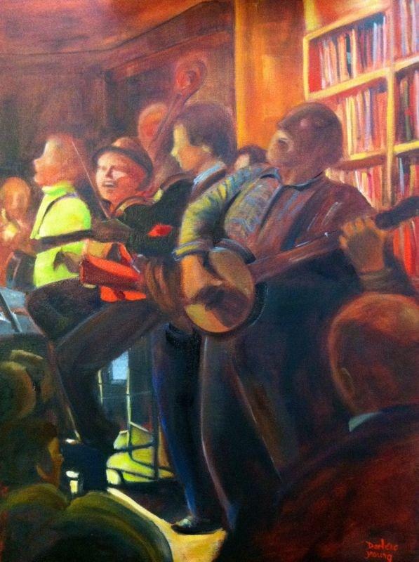 """Open Mic, glazing stage"" original fine art by Darlene Young"