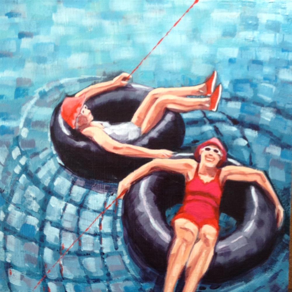 """Lounging Ladies"" original fine art by Bev Thibault"