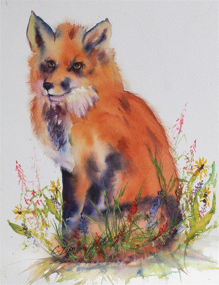"""Foxy Lady"" original fine art by Colleen Drury"