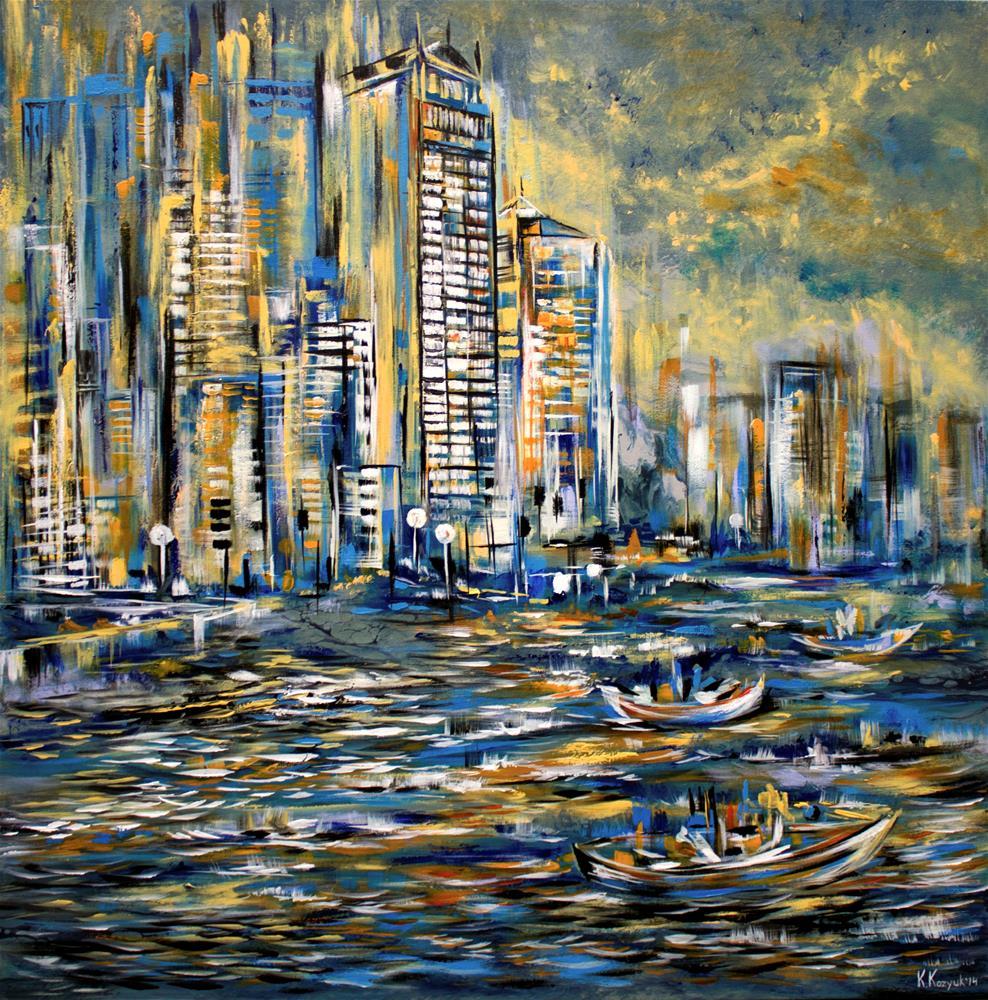 """Romantic Night"" original fine art by Khrystyna Kozyuk"