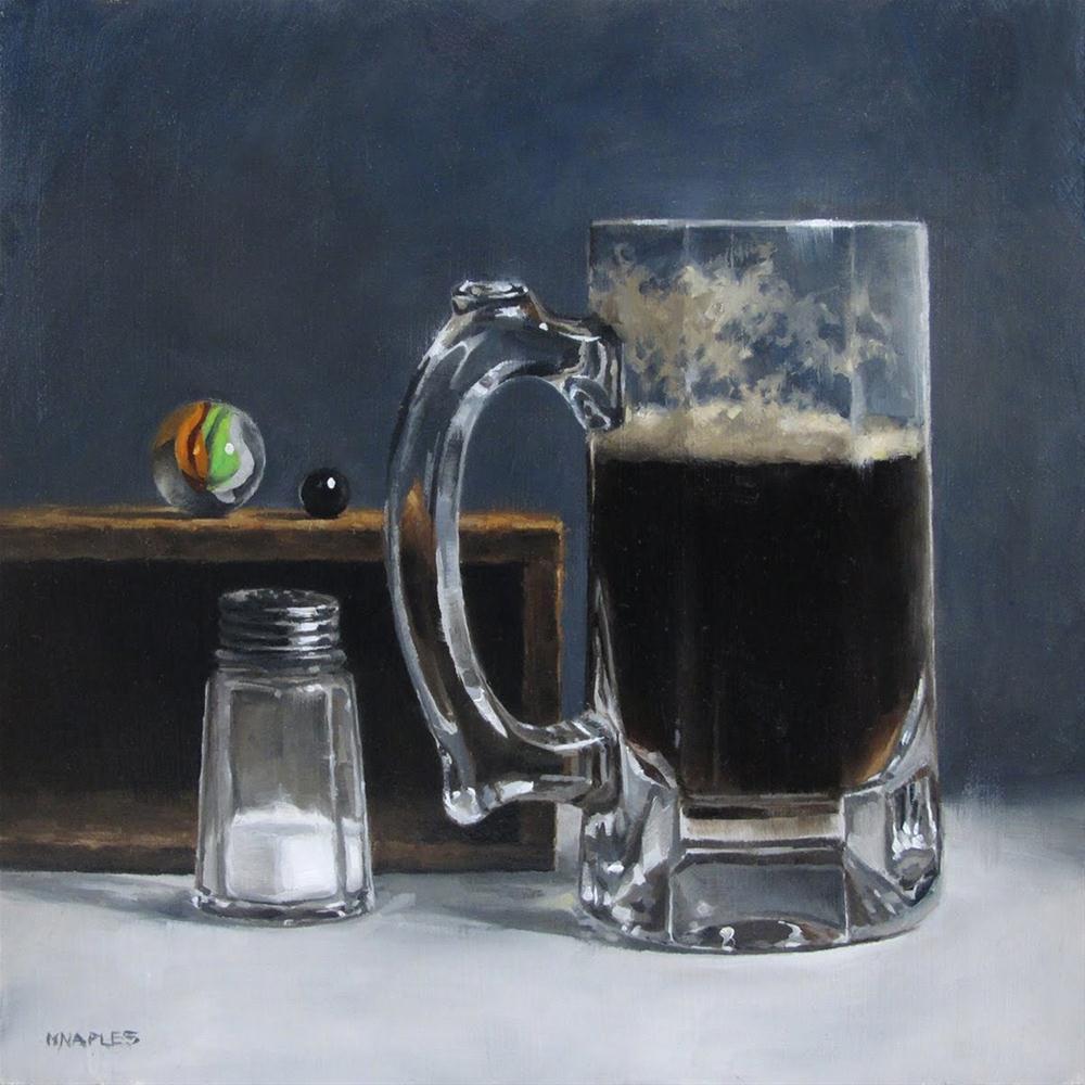 """Still Life with Dark Ale"" original fine art by Michael Naples"