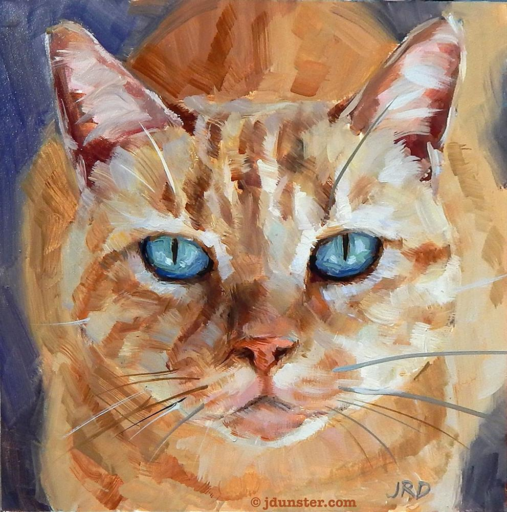 """Orange Tiger Kitty"" original fine art by J. Dunster"