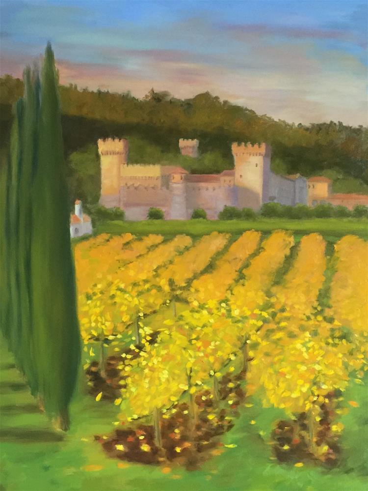 """Castello di Amorosa"" original fine art by Karen D'angeac Mihm"