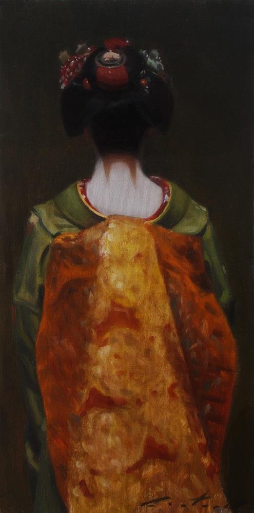 """""""The Scarlet Fringe (Golden Obi)"""" original fine art by Phil Couture"""