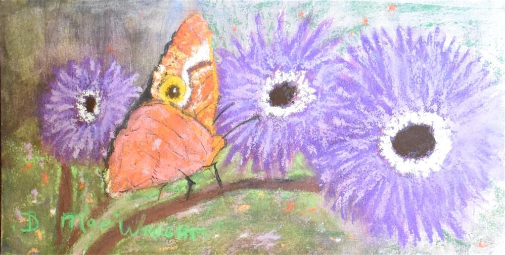 """Buckeye and Anenome"" original fine art by D Mae Wright"