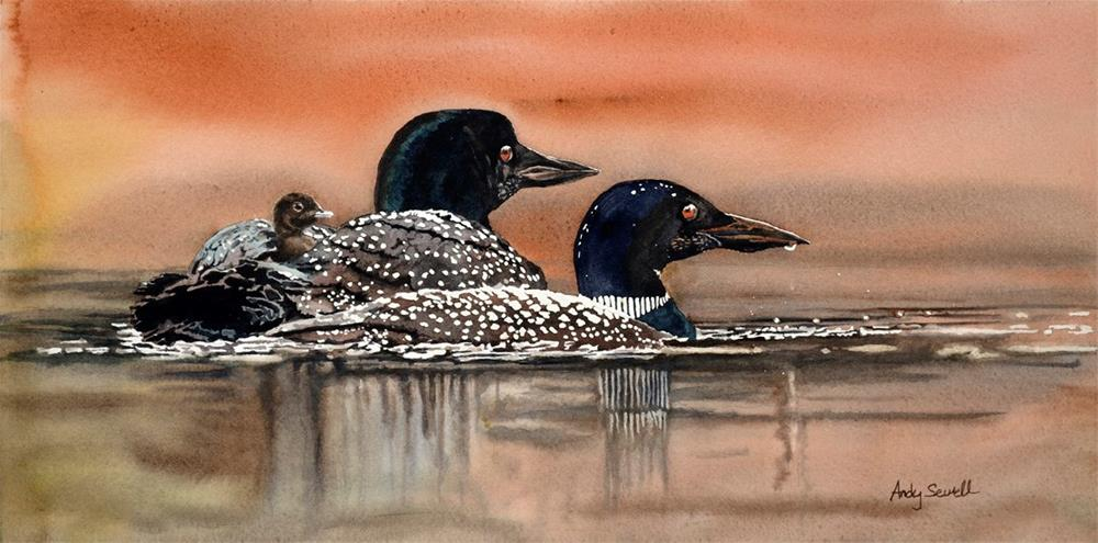 """""""L is for Loon"""" original fine art by Andy Sewell"""