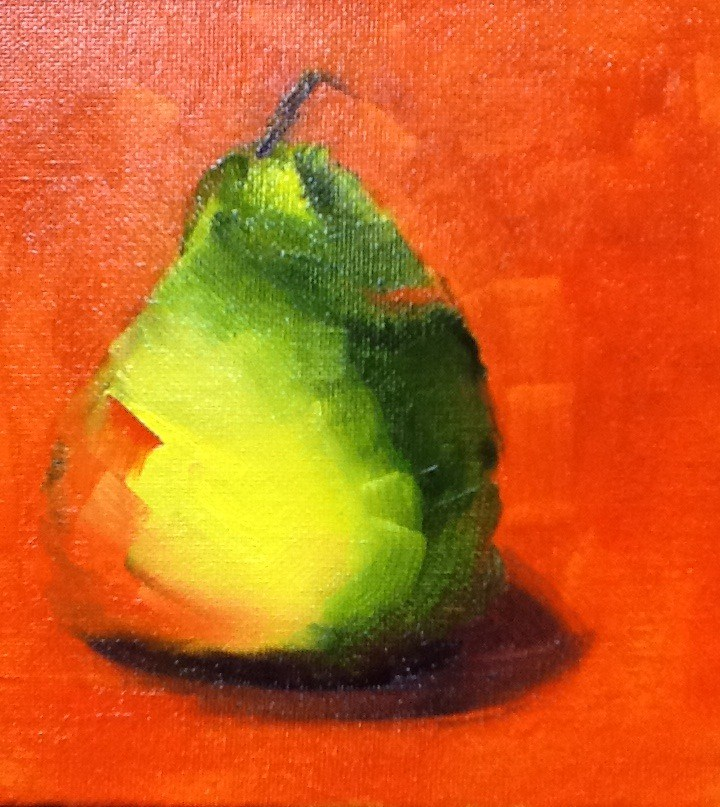 """Left Handed Pear"" original fine art by Peggy Schumm"