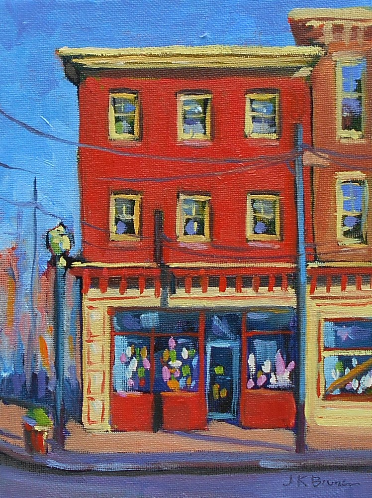 """Deal's Stationery Store, Media PA"" original fine art by Jeanne Bruneau"