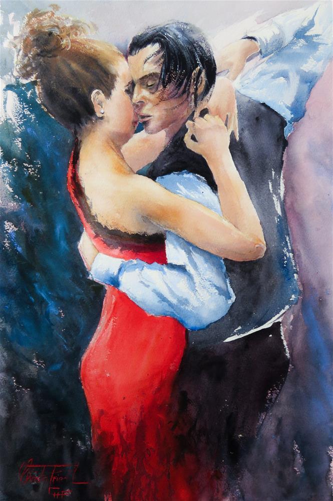 """""""Passion Tango"""" original fine art by Christa Friedl"""