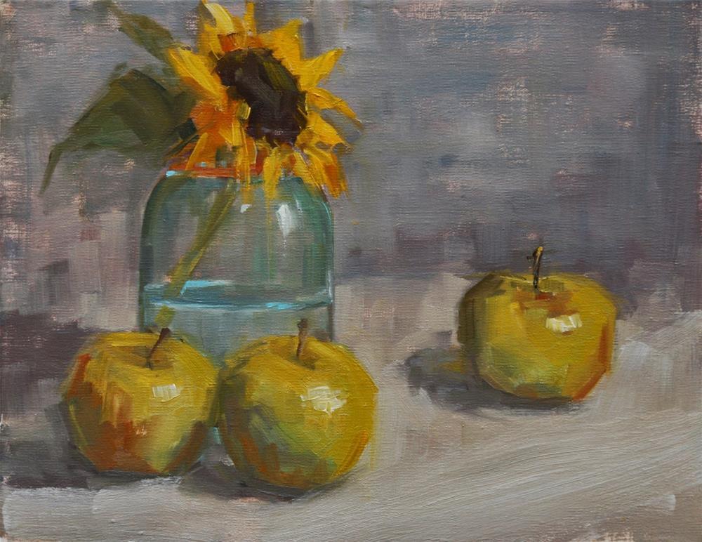 """out of the blue"" original fine art by Carol Carmichael"