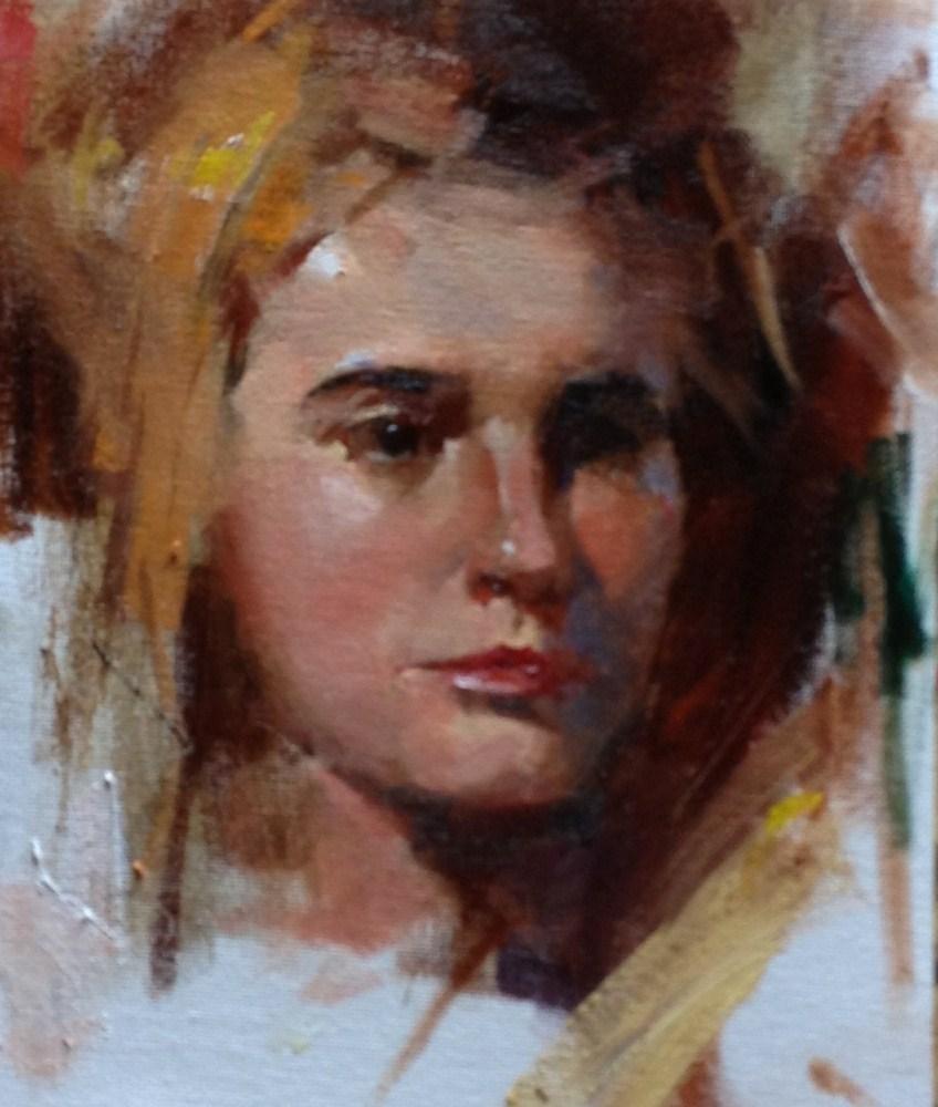 """Head Study 050212"" original fine art by Qiang Huang"