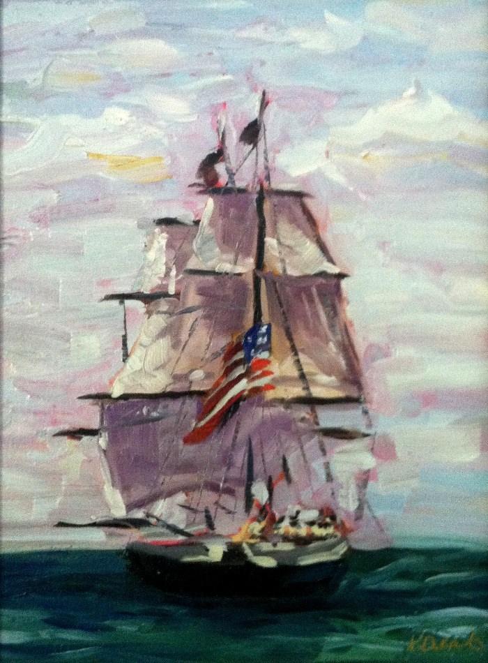 """Battle of Lake Erie"" original fine art by Kristen Dukat"
