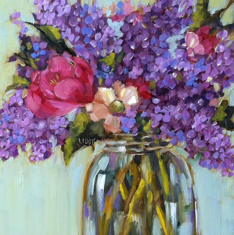 """""""Lilac Party"""" original fine art by Libby Anderson"""
