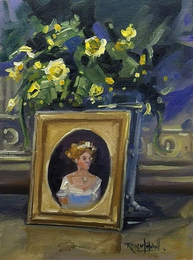 """No 846 Royal Family Member"" original fine art by Robin J Mitchell"