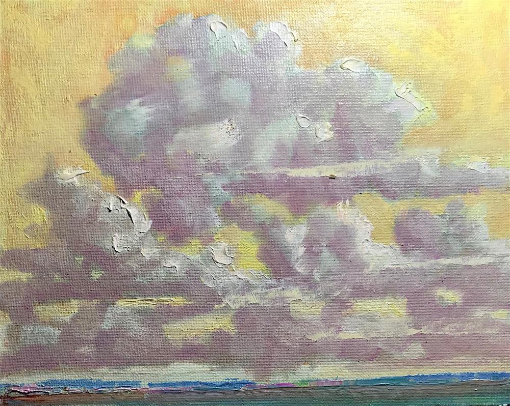 """Yellow Sky Clouds"" original fine art by Linda Blondheim"