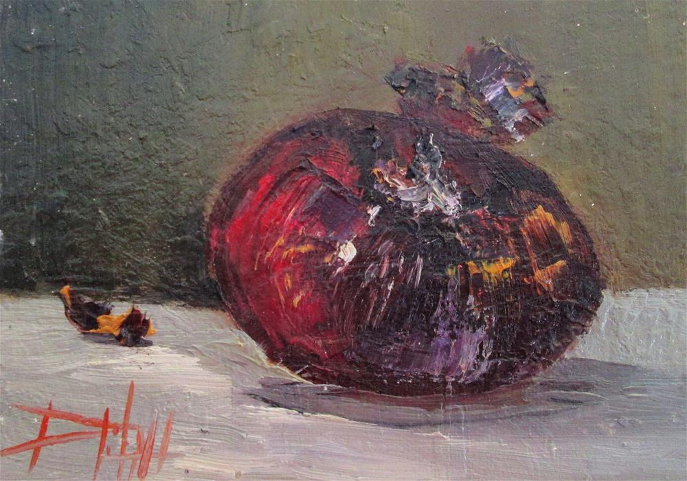 """""""Red Onion"""" original fine art by Delilah Smith"""