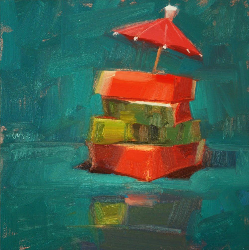 """""""Summer Stack"""" original fine art by Carol Marine"""