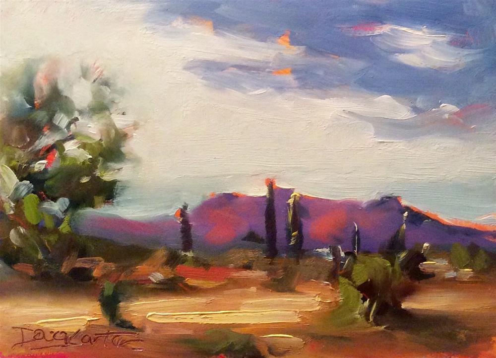 """"""" Red Hills """" original fine art by Doug Carter"""